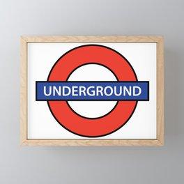 London Underground Framed Mini Art Print