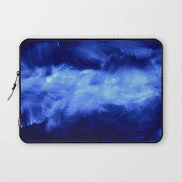 Ultraviolet Purple Lavender White Abstract Brush Strokes Laptop Sleeve