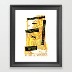 King Combover Framed Art Print