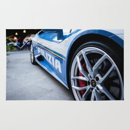 Police Supercar Rug