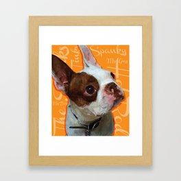Spanky Framed Art Print