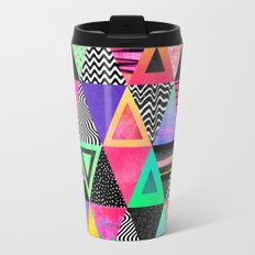 Quirky Triangles Travel Mug