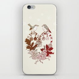 Robin Wreath iPhone Skin