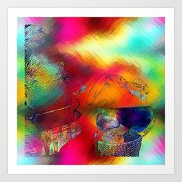 boire un verre Art Print