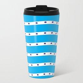 Coastal Pattern Blue Ocean Travel Mug