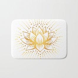 Golden Lotus Mandala Light Bath Mat