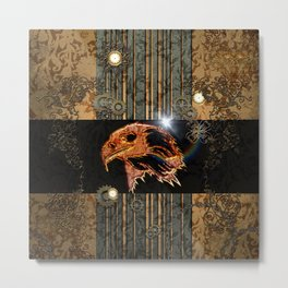 Steampunk,  with awesome eagle Metal Print