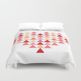 Triangles of Love Duvet Cover
