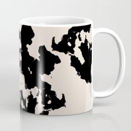 Black Rorschach inkblot Coffee Mug