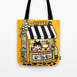 Cat Nap Cafe Tote Bag