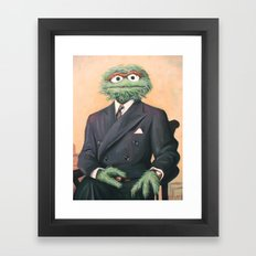 Sir Oscar Grouch Framed Art Print