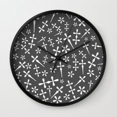 Footnotes Garamond Wall Clock