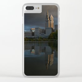 Moody Reflections Clear iPhone Case