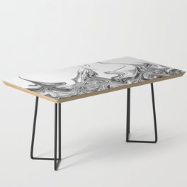 Modern contemporary Black and White Abstract Coffee Table