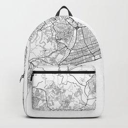 Santo Domingo Map White Backpack