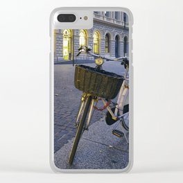 Bicycles in Verona Clear iPhone Case