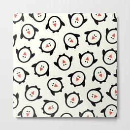 Happy Penguins Metal Print