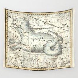 Cetus Constellation, Celestial Atlas Plate 23, Alexander Jamieson Wall Tapestry