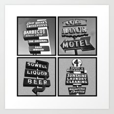 Vintage Signs Series #3 Art Print