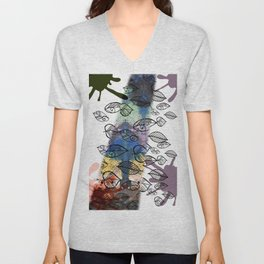 Autumn background Unisex V-Neck