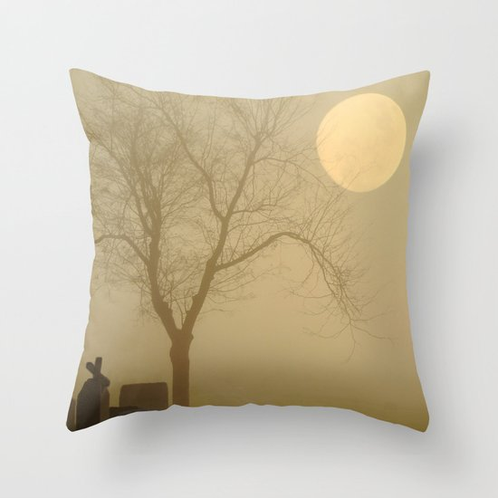 Encroaching Fog Throw Pillow