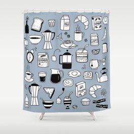 Breakfast Things Shower Curtain