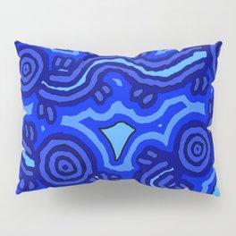Authentic Aboriginal Art - Blue Campsites Pillow Sham