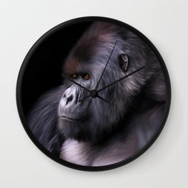 Mountain Gorilla Wall Clock