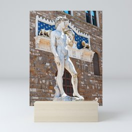 Michelangelo's David in Florence Mini Art Print