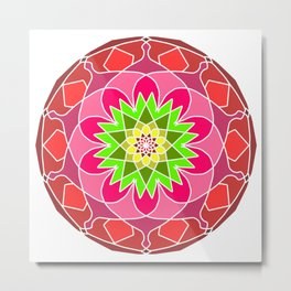 beautiful colors decorative ethnic Metal Print