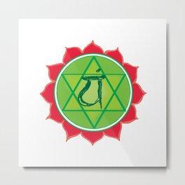 Anahata Heart Green Chakra Metal Print