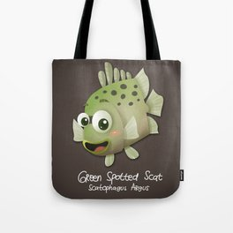 Green Spotted Scat Fish Tote Bag