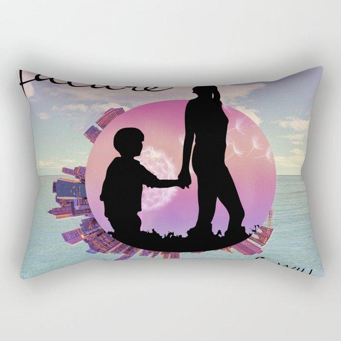the future Rectangular Pillow