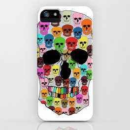 colorfull skull iPhone Case