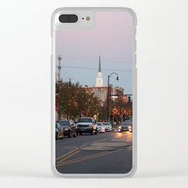A City Christmas Clear iPhone Case