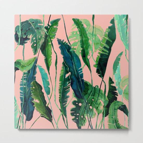 tropical compilation pink Metal Print