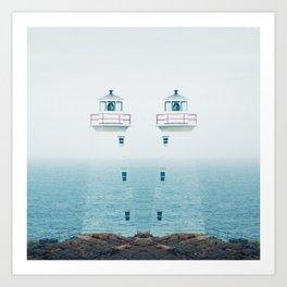 Lighthouse Twins Art Print