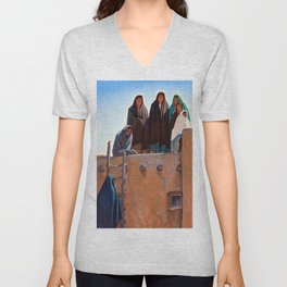 Watchers From the Housetop, 1931 by Maynard Dixon Unisex V-Neck