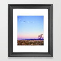 Single File Framed Art Print