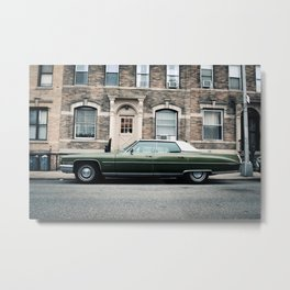 New York City Vintage Cadillac de Ville (II) Metal Print