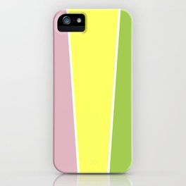 Strawberry Limeade Color Block iPhone Case