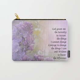Serenity Prayer Lilacs Carry-All Pouch