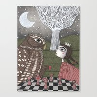 once upon a  time Canvas Prints featuring Once Upon a Time by Judith Clay