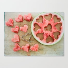 I Heart Watermelon (On Film) Canvas Print
