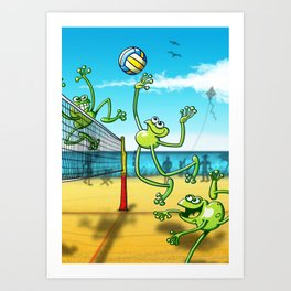 Olympic Volleyball Frog Art Print