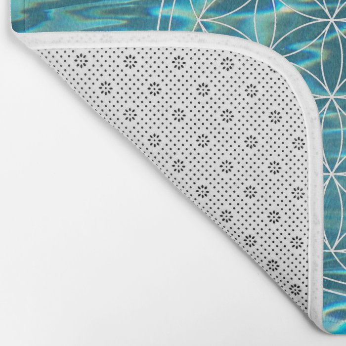 Flower of life in the water Bath Mat