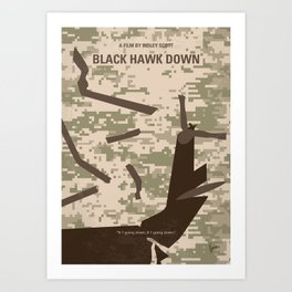 No1076 My Black Hawk Down minimal movie poster Art Print