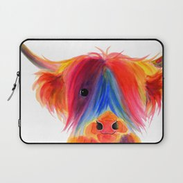 Scottish Highland Cow ' PANCAKE ' by Shirley MacArthur Laptop Sleeve