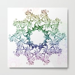color mandala  #society6 #artwork #decor Metal Print