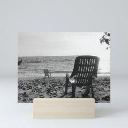 by the beach Mini Art Print
